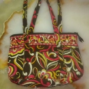 🐙Pink and yellow vera bradly purse